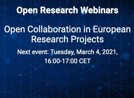 Open Research Webinars @ Online